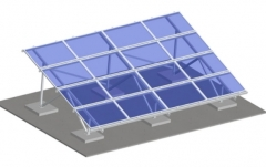 Aluminum Ground Mounting System--rectangle beam
