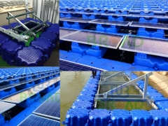 Floating solar mounting systems
