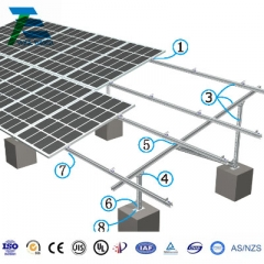 Concrete Foundation Steel Solar Mounting System