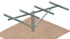 CS-Single Pile Ground Mounting System