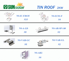 2KW Tin Roof Mounting System