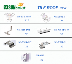 2KW Tile Roof Mounting System