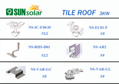 3KW Tile Roof Mounting System