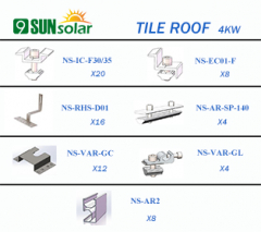 4KW TIile Roof Mounting System