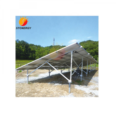 100KW Adjustable Aluminum Solar Panel Ground Mount Racking Systems