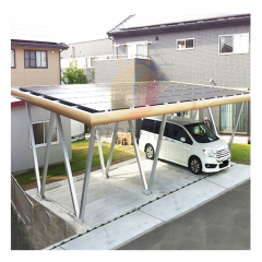 Factory Solar Panels Garages Car Park Mounting Structure System Solar Carport Mounting Racking