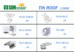 1.5KW Tin Roof Mounting System