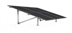 Aluminum ground mounting structure