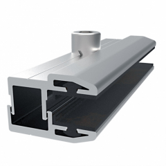 Aluminum Alloy Solar Panel Clamps Extrusion Profile Frame Bracket Double Glass Module Solar Panel Mounting Accessories