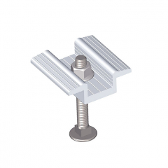 6063 Extruded Profile Metal Roof Solar Panel Clamps For PV Solar Modules