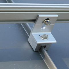 Anodizing Metal Roof Solar Panel Clamps Standing Seam Tin For Frameless PV Module Mounting Structures