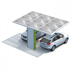 On/off grid Thickness 0.5mm-15mm PV Carport Solar Systems For Private Parking Lot