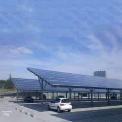 Renewable Energy Car Shed Span 5000mm PV Carport Solar Systems  Thickness 0.5mm-15mm Solar Car Parking Racks