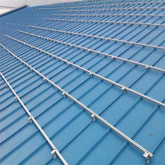 Anodized Aluminum Profile Extrusion Slotted Rail For Photovoltaic Module Mounting Systems OEM