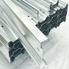 Ground Galvanized Steel Profile Solar Panel Mounting Structure Single Section HDG Steel PV Support Structure
