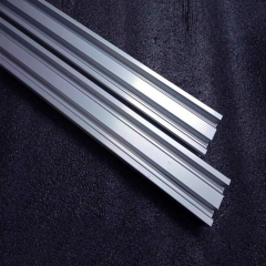 Custom Size Aluminium Rail Profile, Rust Resistance Aluminum Extrusion Rail for Solar Mounting Brackets