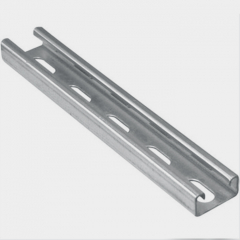 Galvanized Coated C U Section Steel Channel Solar Panel Mounting Brackets For PV Plant Project