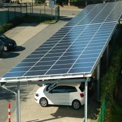Commercial Module solar Energy Panel Racking Systems Car Parking Lot