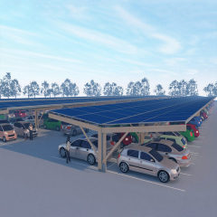 Highly Corrosion Resistant Steel Solar Parking Lot Carport Structures