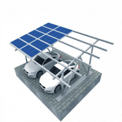 Hot Dip Galvanizing On Off Grid Solar Carport  Mounting Systems For Private Parking Lot