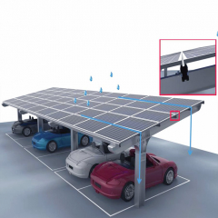 Waterproof Ground Mounting System For Solar Car Shed