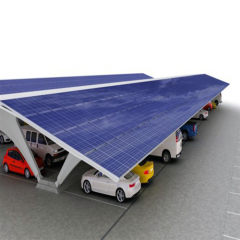 On Off Grid Hot-Dipped Galvanization PV Residential solar Carport Structures