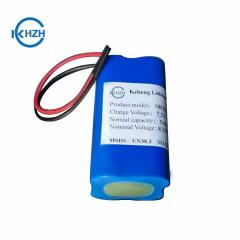 Battery 7.4v 5000mah 3.7v 2500mah lithium battery customized 2S2P 18650 Rechargeable