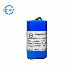 7.4v 7.4v 18650 battery pack 2S1P Rechargeable 7.4v 2500mah lithium battery pack