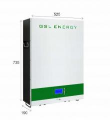 GSL ENERGY 48V 100Ah 200Ah 400Ah Wall Solar Battery