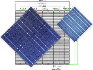 MS-9BB 158.75 Mono  Solar Cell  Bifacial(half cut)