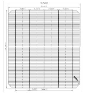 MS-5BB 156.75 Mono 5BB Solar Cell (half cut)