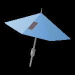 Solarschirm für Stromversorgung