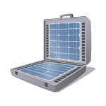 Valigia con Pannello Fotovoltaico