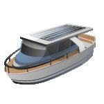 القوارب - هجينة/تعمل بالطاقة الشمسية
