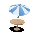 Solarlampe im Schirm