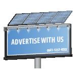 Leuchte für Reklameplakat