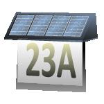 Solare Hausnummernleuchte