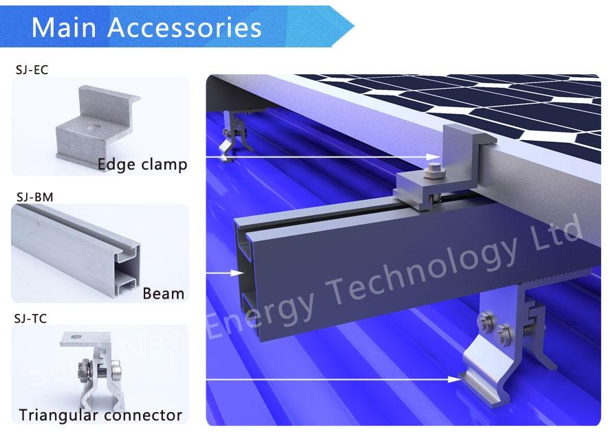 Senji Energy Color Steel Tile Roof Mounting System