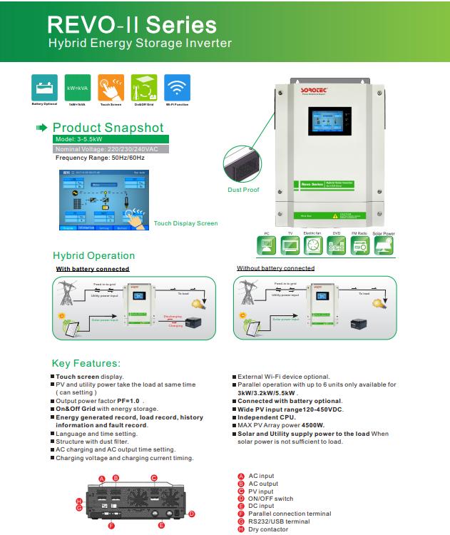 Shenzhen SORO Electronics   REVO II Series   Solar Inverter